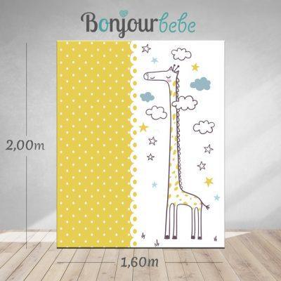 003_giraffe canvas