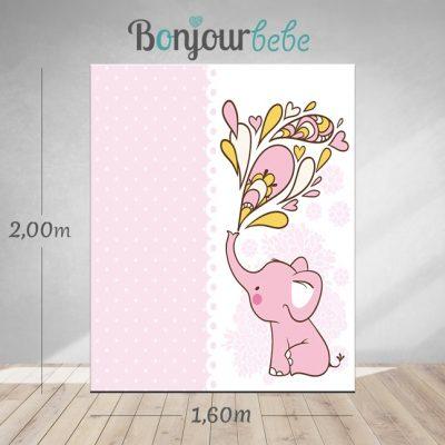 005_pink elephant canvas